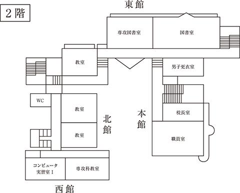 学校法人聖カタリナ高等学校施設紹介 2階見取り図